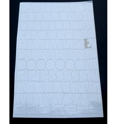 Litery 2 biały alfabet