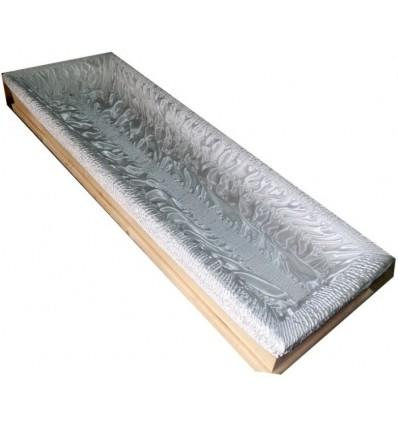 Wkład sarkofag (130cm) bez koronki brzeg 2 igły podwinięty marszcony podwójnie