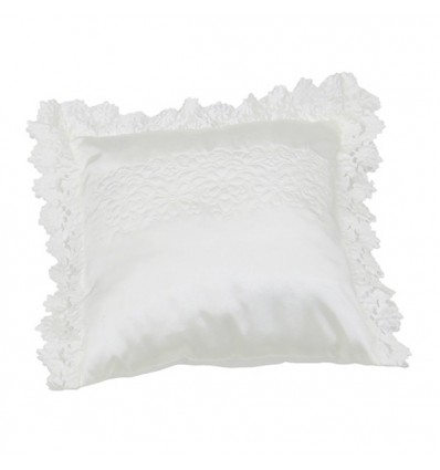 Poduszka prosta koronka białaIIwzór