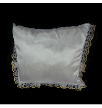 Poduszka prosta koronka b.złota